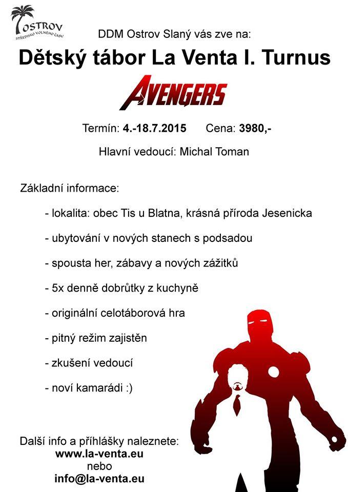 Avengers 2015 - leták